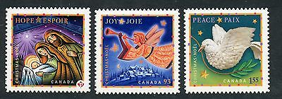 Weeda Canada 2240i-2242i VF NH Die cut Christmas singles, from Annual Collection