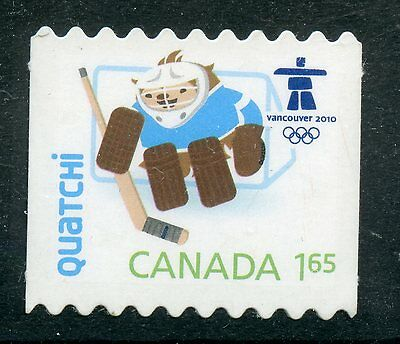 Weeda Canada 2310ii VF NH Die cut Olympics Quatchi single from Annual Collection