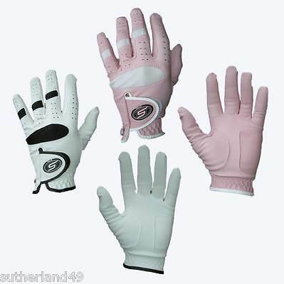 Ladies SkyMax All Weather Pink or White Golf Glove - Small, Medium or Large