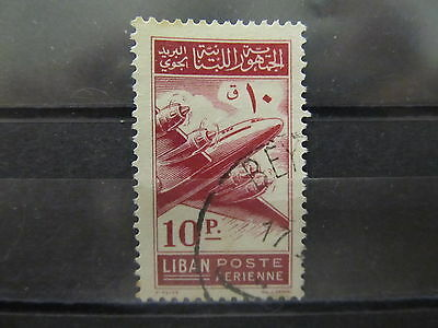 A2P31 LEBANON AIR POST STAMP 1953 10p USED #1