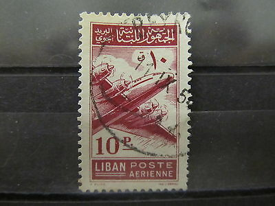 A2P31 LEBANON AIR POST STAMP 1953 10p USED #2