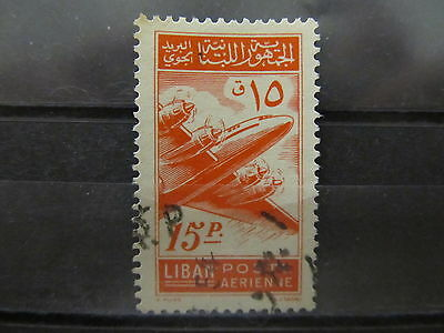 A2P31 LEBANON AIR POST STAMP 1953 15p USED #1