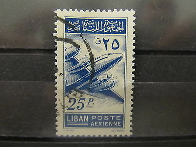 A2P31 LEBANON AIR POST STAMP 1953 25p USED #1