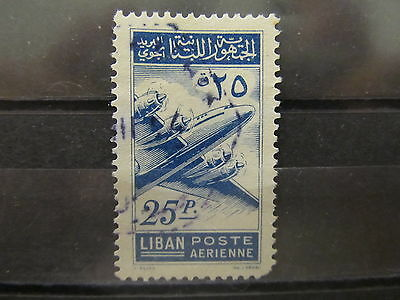 A2P31 LEBANON AIR POST STAMP 1953 25p USED #2