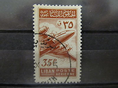 A2P31 LEBANON AIR POST STAMP 1953 35p USED #1