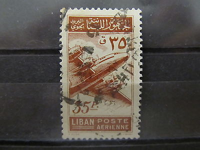 A2P31 LEBANON AIR POST STAMP 1953 35p USED #2