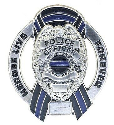 Heroes Live Forever Memorial Police Officer Pin