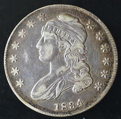 1834 Capped Bust Half Dollar, FREE SHIPPING!!!!! CBHC04