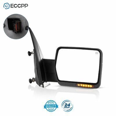 Left Power Heated Led Signal Light Towing Side Mirror Driver For 07-14 Ford F150