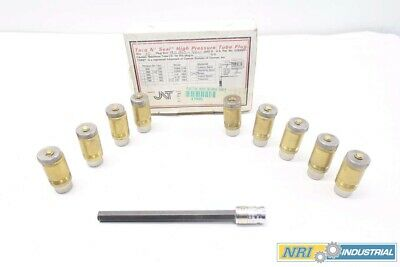 New Box Of 9 Jnt Torq N' Seal 0.900-0.920 In 350In-Lb Brass Tube Plugs D533323
