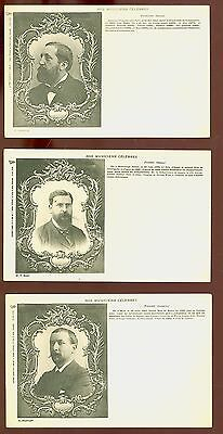 Pristine Lot of 3 Early French UDB Photo Postcards Nos Musicienes Celebres B3943