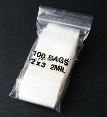 """2000 Mil Zip Lock 2"""" x 3"""" 2 Resealable Bags Crafts Jewelry Coins"""
