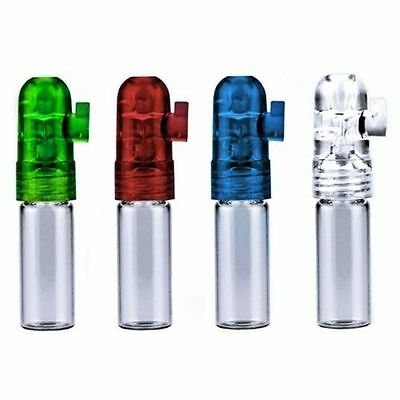 Clear Glass Snorter Sniffer Snuff Powder Bullet Dispenser Buy 2 Get 1 Free