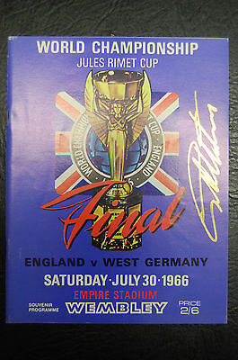 Geoff Hurst Signed 1966 World Cup Final England V West Germany Reprint