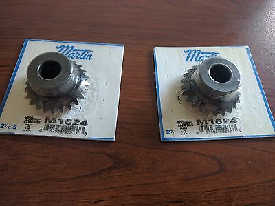 "Martin Gear M1624, Miter Gear Bevel Gear, 1/2"" 0.5"" bore, 24 tooth, 2 pieces NEW"