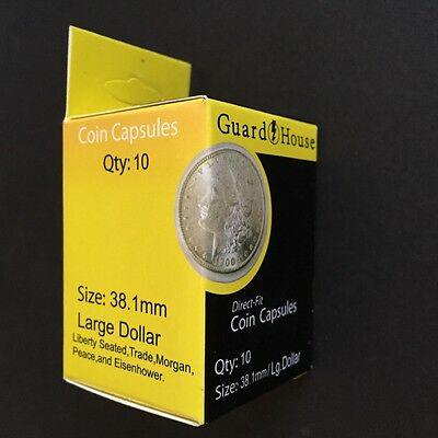 Guardhouse Box of 10 Direct Fit 38.1mm Coin Holders Large Dollars