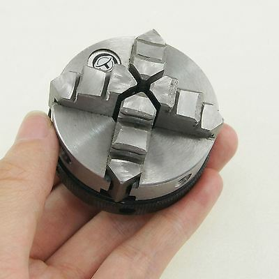 10521815 4 Jaw Self Centering Watch Makers Jewelry DIY Mini Lathe Chuck 50mm