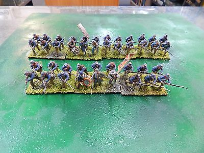 28mm plastic painted Confederate Infantry by Perry Miniatures