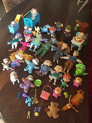 Bundle of  Rugrats Figures, Wild Thornberrys Nickelodeon Burger King Toys Child