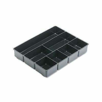 Rubbermaid Extra Deep Desk Drawer Director Tray, Plastic - Black New