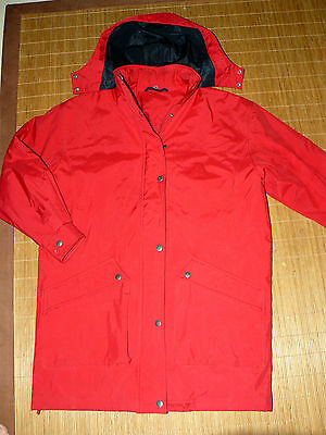 c933195ba114c3 RED GREEN rote Jacke Herren Thermo Wetter Gr.L Kapuze Allwetter Mantel TOP  #67