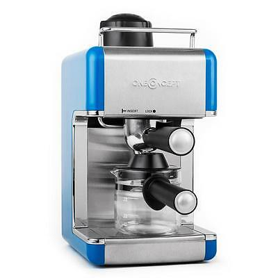 New Espresso Coffee Machine 800W Stainless Steel - Blue * Free P&p Uk Offer *