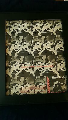 The Clash London Calling Rare Original Promo Poster Ad Framed!
