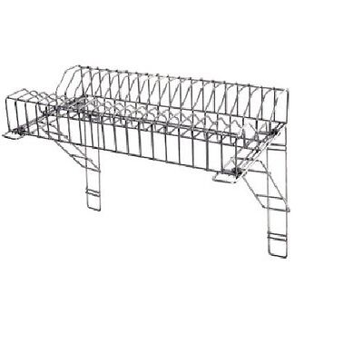 St/ Steel Plate Rack With Brackets For Dishes For Takeaways,Restaurants- 150 Cm