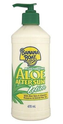 Banana Boat Aloe Vera Moisturising After Sun Lotion Vitamin E 470ml Prolong Tan