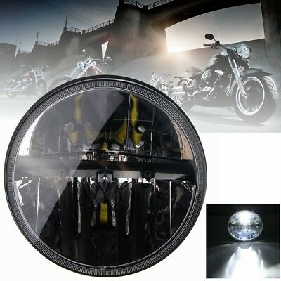 7'' Black Motorcycle LED Projector Daymaker Hi/Lo Beam Headlight H13 For Harley