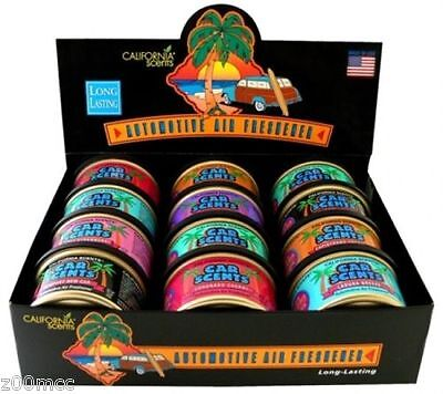 California Scents Car Scents Air Fresheners x 12 Assorted Pack in Display Box