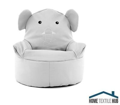 Kids Children's Animal Fun Filled Bean Bag Chair Bear or Elephant