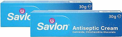SAVLON ANTISEPTIC CREAM 30G X 2 TWIN PACK - Soothes & helps prevent infection