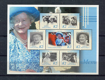 s8528) PAPUA & NEW GUINEA MNH** Nuovi**  2002, Queen mother 7v m/s
