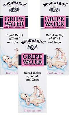 Woodwards Gripe Water 150ml X3 TRIP PACK-Original Dill Seed oil for Baby bubbles