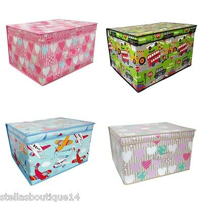 Large Kids Storage Box Chest Toy Box Clothes Laundry Chest Tidy Baby Room