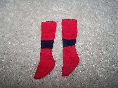 Vintage Ken Touchdown (1963-1965) #799 Red And Navy Blue Band Knee Socks