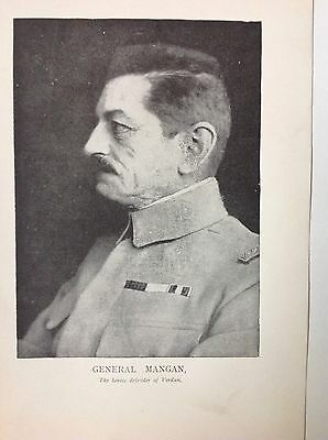 France General Manganese 'the Butcher' WW1 Vintage Print Photo