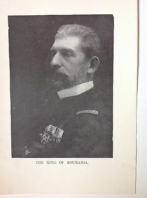 Romania Ferdinand 1 - King Of Romania WW1 Vintage Print Photo
