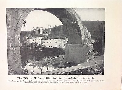 Beyond Goritza Italian Advance On Trieste 1915 WW1 Vintage Print Photo