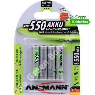 4x Ansmann AAA 550 mAh Stay Pre-Charged NiMH Rechargeable Batteries DECT Phone