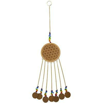 Flower of Life with Chakra Colored Beads Wall Hanging or Chime!