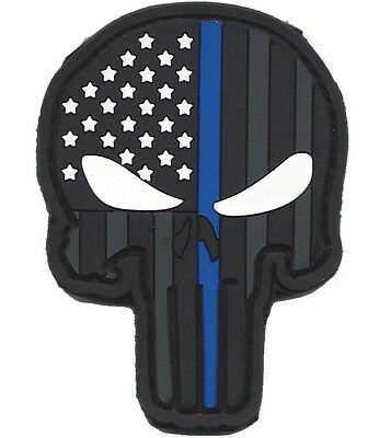 Thin Blue Line Punisher Skull Patch