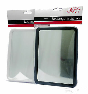 Small Rectangular Mirror With Stand - Ideal For Travel, Bathroom, Make Up, Desk
