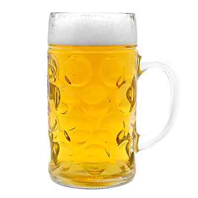 Oktoberfest 44 Oz Dimpled Glass jumbo Beer Mug .
