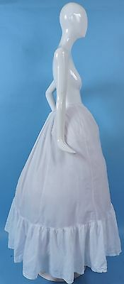 Victorian 19Th C White Petticoat W Embroidered Bottom For Dress