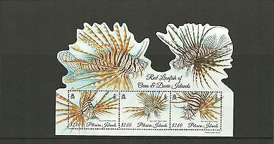 Pitcairn Islands 2015  Sgms924 Red Lionfish Minisheet Mnh