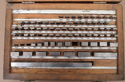 Fowler Gage Block  Set Set No. E1 53-672-81 Made In Sweden