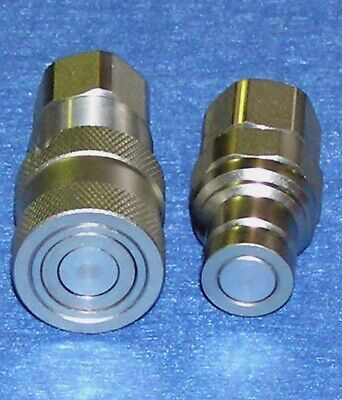 "2 - Sets Hydraulic Coupling 1/2"" Bspp Threads Flat Face"