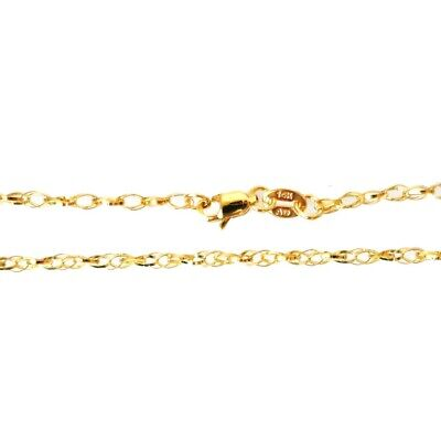 40 cm 16 inches BEL18-70 14K Solid Yellow Gold Bella Link Chain 1.8 mm Length: